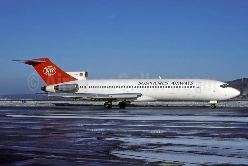 Bosphorus Airways-BHY Boeing 727-230 TC-IKO (msn 20430) ZRH (Rolf Wallner). Image: 920882.
