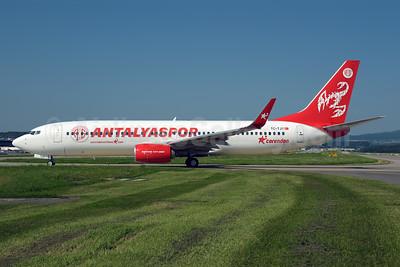 Corendon Airlines (Corendonairlines.com) Boeing 737-8AS TC-TJY (msn 34991) (Antalyaspor football club) ZRH (Rolf Wallner). Image: 954688.