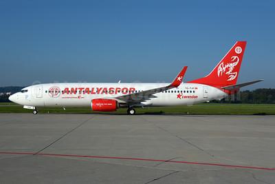 Corendon Airlines (Corendonairlines.com) Boeing 737-8AS TC-TJY (msn 34991) (Antalyaspor football club) ZRH (Rolf Wallner). Image: 954964.