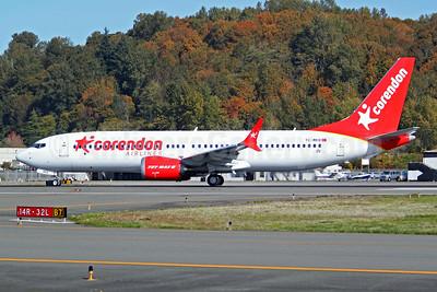 Corendon Airlines Boeing 737-8 MAX 8 TC-MKB (msn 60220) BFI (Joe G. Walker). Image:  947926.