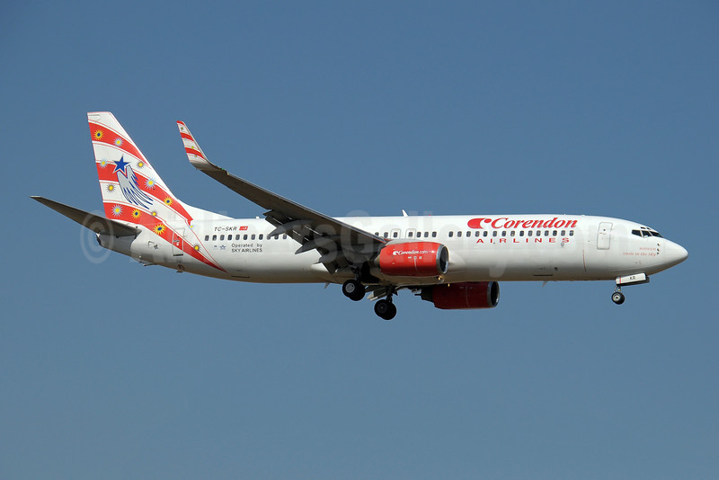 Corendon Airlines (Corendon.com)-Sky Airlines (Turkey) Boeing 737-83N WL TC-SKR (msn 32576) (Sky Airlines colors) AYT (Paul Denton). Image: 909035.