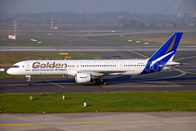 Golden International Airlines Boeing 757-2Q8 TC-GLA (msn 30044) DUS (Ton Jochems). Image: 945538.