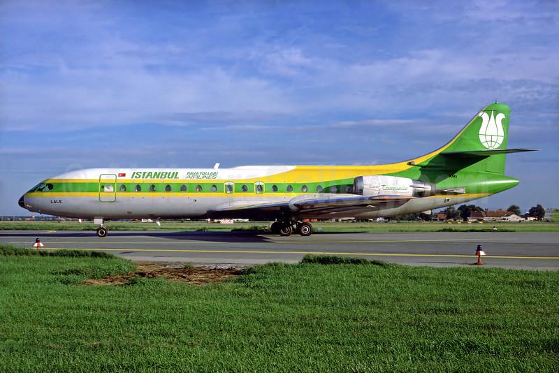Istanbul Airlines Sud Aviation SE.210 Caravelle 10B1R TC-ARI (msn 235) (SAT colors) MUC (Perry Hoppe). Image: 920481.
