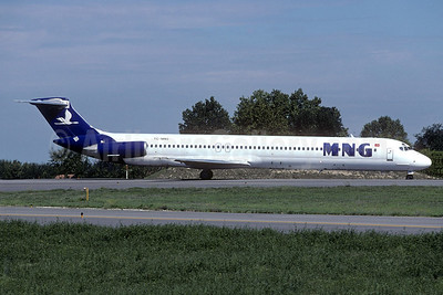 MNG Airlines McDonnell Douglas DC-9-82 (MD-82) TC-MNS (msn 48098) BLQ (Christian Volpati Collection). Image: 937117.