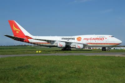 MyCargo Airlines-HNA-Magma Aviation Boeing 747-481 (F) TC-ACF (msn 25624) MSE (Richard Vandervord). Image: 913504.