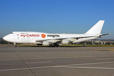 MyCargo Airlines-HNA-Magma Aviation Boeing 747-433 (F) TC-ACH (msn 24998) ZRH (Rolf Wallner). Image: 913507.
