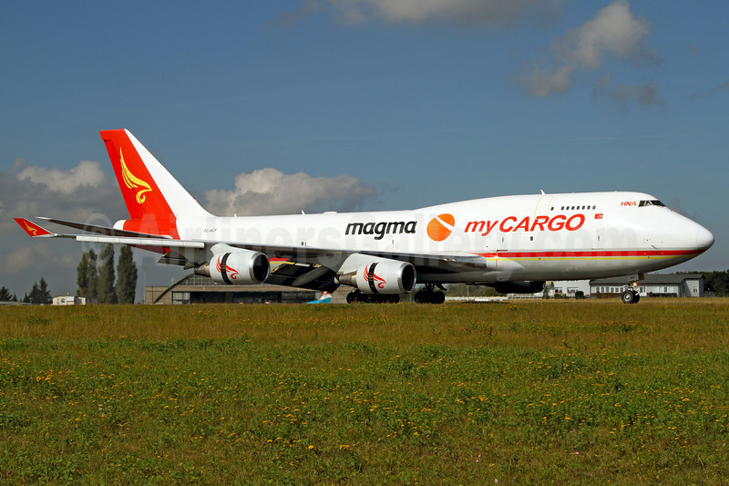 MyCargo Airlines-HNA-MAGMA Boeing 747-481 (F) TC-ACF (msn 25624) LUX (Rainer Bexten). Image: 909451.