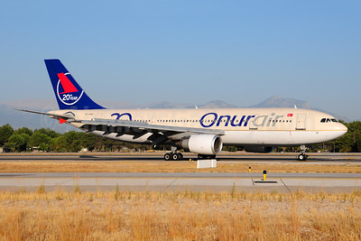 Onurair Airbus A300B4-605R TC-OAH (msn 584) (Saudi Arabian fuselage-20th year) AYT (Ton Jochems). Image: 952855.