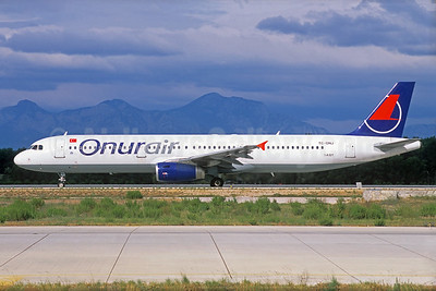 Onurair Airbus A321-131 TC-ONJ (msn 385) IZM (Jacques Guillem Collection). Image: 929585.