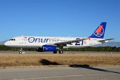 Onurair Airbus A320-232 TC-OBN (msn 2571) (21 Years) AYT (Ton Jochems). Image: 920606.