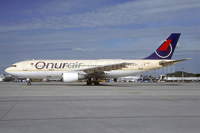 Onurair Airbus A300B4-203 TC-ONU (msn 192) (Saudia colors) MUC (Christian Volpati Collection). Image: 938593.