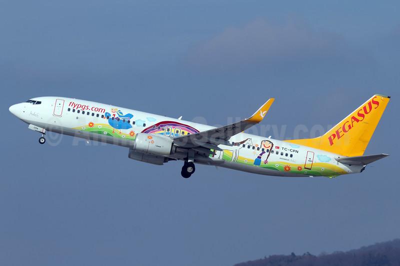 Pegasus Airlines (flypgs.com) Boeing 737-82R WL TC-CPN (msn 40013) (Ada E logo jet) ZRH (Andi Hiltl). Image: 937187.