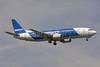 Pegasus Airlines (flypgs.com) Boeing 737-42R TC-APD (msn 29107) (Beko Home Appliances) STN (Keith Burton). Image: 900449.