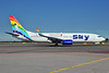 """Sky Airlines' special """"Adam and Eve"""" logo jet"""