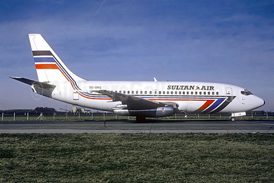Sultan Air Boeing 737-205 SE-DKG (msn 19408) (Transwede colors) MUC (Frank Potsch - Christian Volpati Collection). Image: 941559.