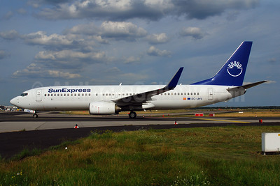 SunExpress Airlines (Futura International Airways) Boeing 737-8FH EC-JHV (msn 30826) (Futura partial colors) FRA (Bernhard Ross). Image: 900152.