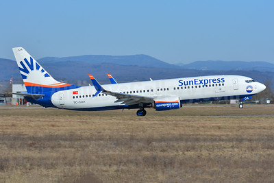 SunExpress Airlines Boeing 737-8HC SSWL TC-SOA (msn 61184) BSL (Paul Bannwarth). Image: 941052.