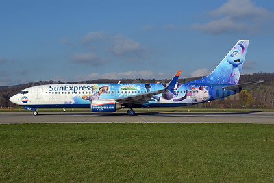 "SunExpress' 2019 ""Shaun the sheep - UFO Alarm"" logo jet"