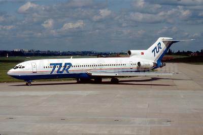 TUR European Airways (Tur Avrupa Hava Yollari) Boeing 727-230 TC-TCB (msn 21114) BHX (SM Fitzwilliams Collection). Image: 920924.