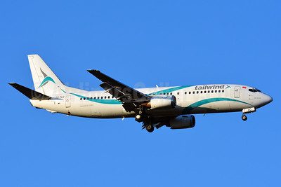 Tailwind Airlines Boeing 737-4Q8 TC-TLC (msn 25112) BSL (Paul Bannwarth). Image: 938321.