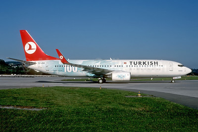 "Turkish Airlines' 2006 ""100th Boeing"" special livery"