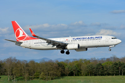 Turkish Airlines Boeing 737-8F2 WL TC-JVG (msn 42009) BSL (Paul Bannwarth). Image: 937723.