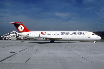 Turkish Airlines-THY McDonnell Douglas DC-9-32 TC-JAB (msn 45774) ZRH (Christian Volpati Collection). Image: 941018.