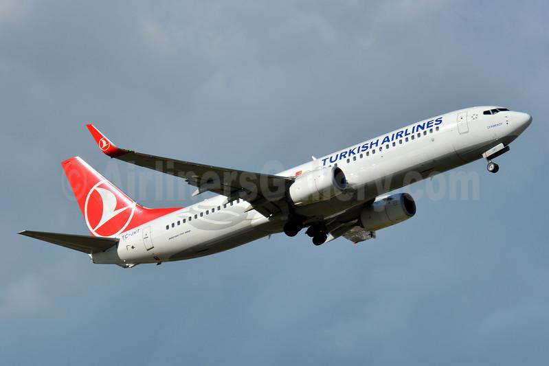Turkish Airlines Boeing 737-8F2 WL TC-JVT (msn 60020) BSL (Paul Bannwarth). Image: 939960.