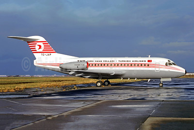 Flight 345 with TC-JAP crashed into the Sea of Marmara on January 30, 1975 on final approach to Istanbul. 42 killed.