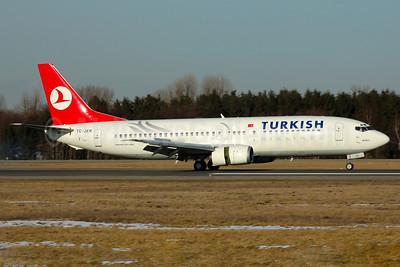 Turkish Airlines Boeing 737-4Y0 TC-JER (msn 26073) HAM (Gerd Beilfuss). Image: 900786.