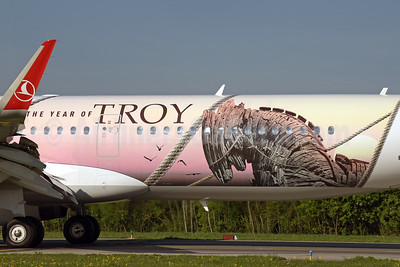"Turkish's 2018 ""The Year of Troy"" logo jet"