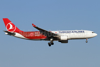 "Turkish Airlines' 2015 ""Invest in Turkey"" logo jet"