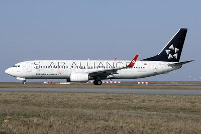 Turkish Airlines Boeing 737-8F2 WL TC-JFI (msn 29771) (Star Alliance) CDG (Wim Callaert). Image: 937721.