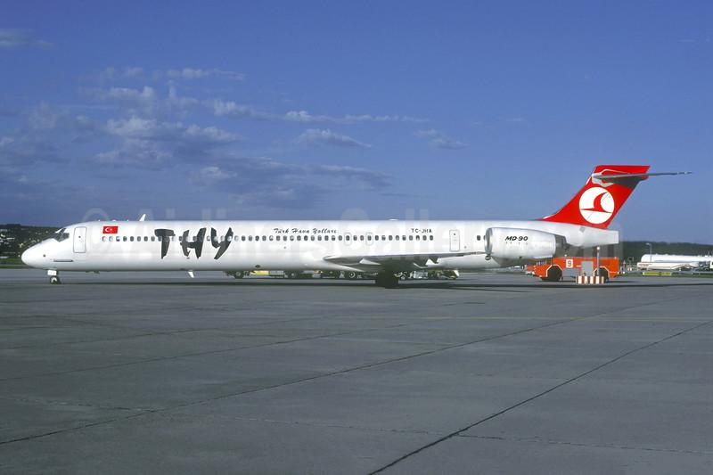 THY - Turk Hava Yolları McDonnell Douglas MD-90-30 TC-JHA (msn 53552) STR (Christian Volpati Collection). Image: 941016.