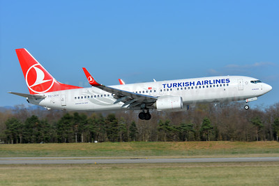 Turkish Airlines Boeing 737-8F2 WL TC-JVV (msn 60023) BSL (Paul Bannwarth). Image: 937499.