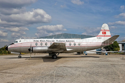 Turk Hava Yollari-Turkish Airlines Vickers Viscount 794D TC-SEV (msn 430) IST (Mario C.E. Freese). Image: 900785.