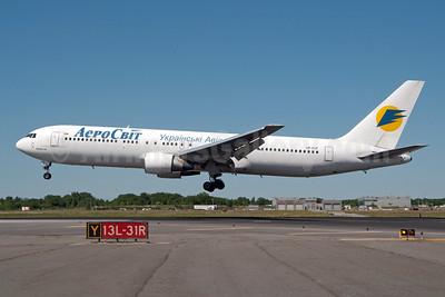 AeroSvit Ukrainian Airlines Boeing 767-383 ER UR-VVF (msn 24476) JFK (Fred Freketic). Image: 950181.