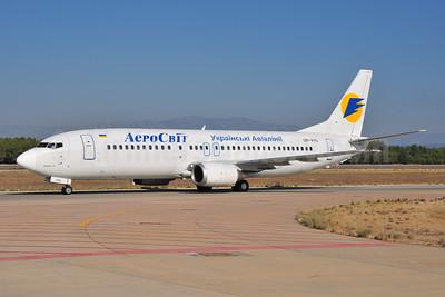 AeroSvit Ukrainian Airlines Boeing 737-448 UR-VVE (msn 24521) AYT (Ton Jochems). Image: 953973.