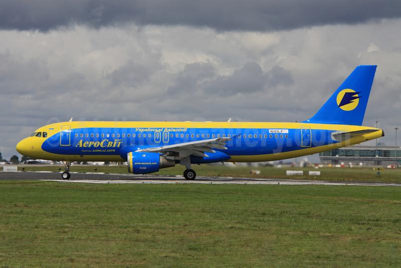 AeroSvit Ukrainian Airlines Airbus A320-211 N181LF (UR-DAI) (msn 579) DUB (Paul Doyle). Image: 906678.