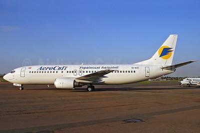 AeroSvit Ukrainian Airlines Boeing 737-448 EI-BXI (msn 25736) SEN (Keith Burton). Image: 900047.