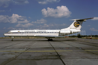 Air Ukraine Tupolev Tu-134A-3 UR-65757 (msn 62215) (Aeroflot colors) KBP (Rolf Wallner). Image: 942753.