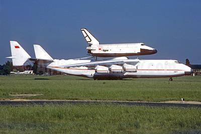 Antonov Design Bureau (Antonov Airlines) Antonov An-225 Mriya + Shuttle CCCP-82060 (UR-82060) (msn 19530503763) LBG (Christian Volpati). Image: 925567.