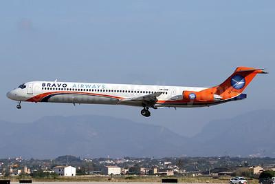 Bravo Airways (Ukraine) McDonnell Douglas DC-9-83 (MD-83) UR-COB (msn 53187) (Kam Air colors) PMI (Javier Rodriguez). Image: 932955.