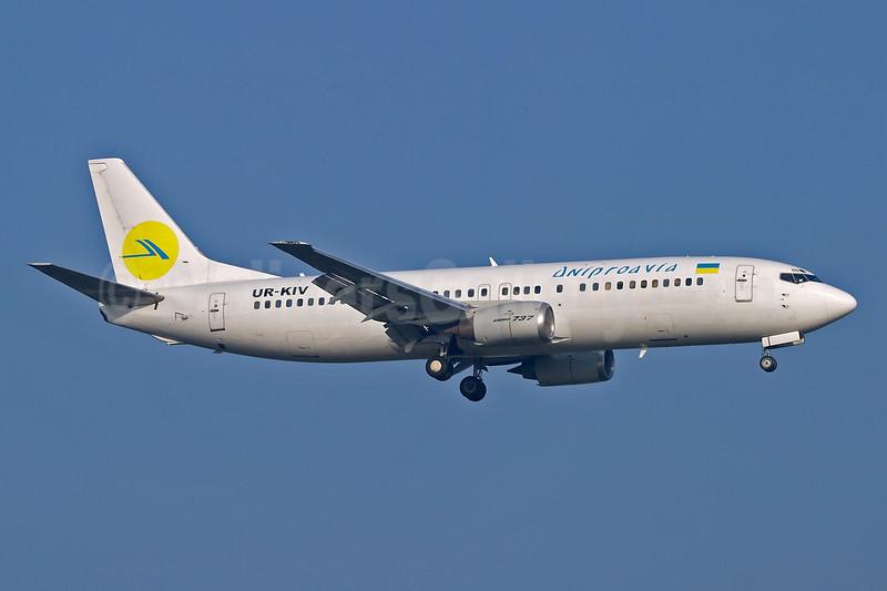 Dniproavia Boeing 737-4Y0 UR-KIV (msn 24686) FRA (Arnd Wolf). Image: 903964.