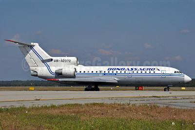 Donbassaero Airlines Yakovlev Yak-42D UR-42372 (msn 4520423914266) MXP (Richard Vandervord). Image: 903683.