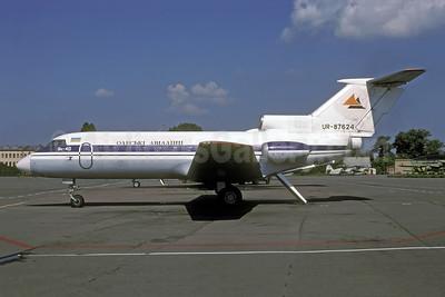 Odessa Airlines Yakovlev Yak-40 UR-87624 (msn 9140519) (Aeroflot colors) IEV (Rolf Wallner). Image: 952398.