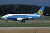 Ukraine International Airlines Boeing 737-5L9 UR-GBB (msn 28995) (Dniproavia colors) GVA (Paul Denton). Image: 913482.