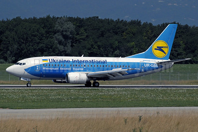 Ukraine International Airlines Boeing 737-5L9 UR-GBB (msn 28995) (Dniproavia colors) GVA (Paul Denton). Image: 913482.