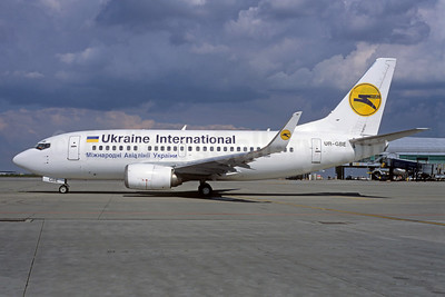 Ukraine International Airlines Boeing 737-548 WL UR-GBE (msn 24968) PRG (Jacques Guillem Collection). Image: 939695.