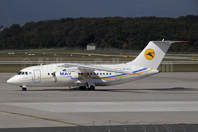 UIA (Ukraine International Airlines) (www.flyuia.com) Antonov An-148-100B UR-NTA (msn 0101) (AeroSvit fuselage colors, UIA tail logo) GVA (Paul Denton). Image: 907277.